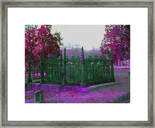 Gated Tomb Framed Print