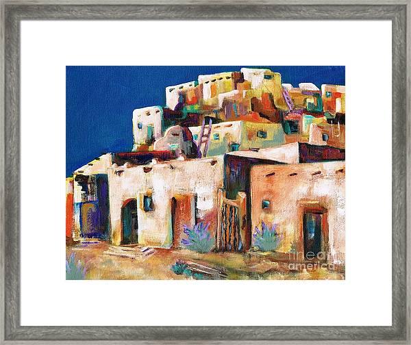 Gateway Into  The  Pueblo Framed Print