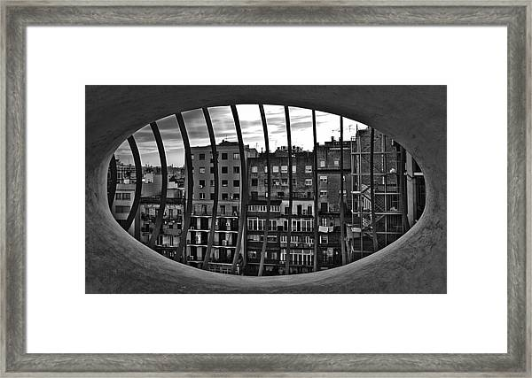 Gaudi's View Framed Print