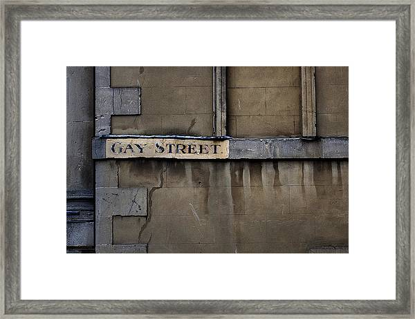 Gay Street Denise Dube Framed Print