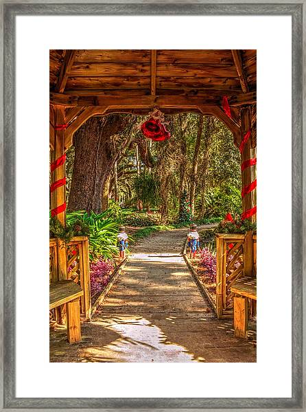 Gazebo Bells Framed Print