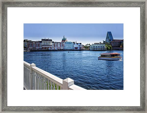 Gazebo View Of The Boardwalk Walt Disney World Framed Print