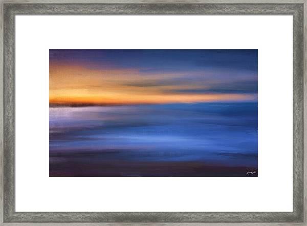 Gazing The Horizon Framed Print