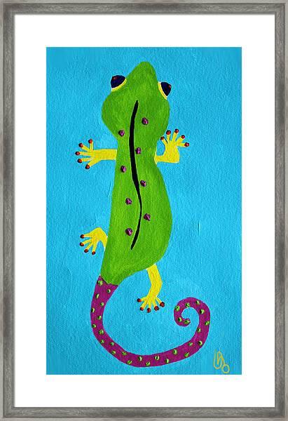 Gecko Gecko Framed Print