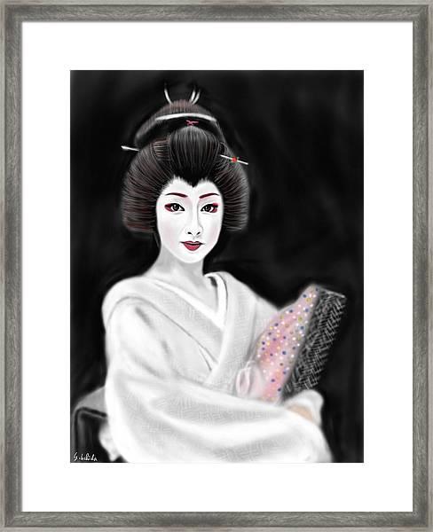Geisha No.155 Framed Print by Yoshiyuki Uchida