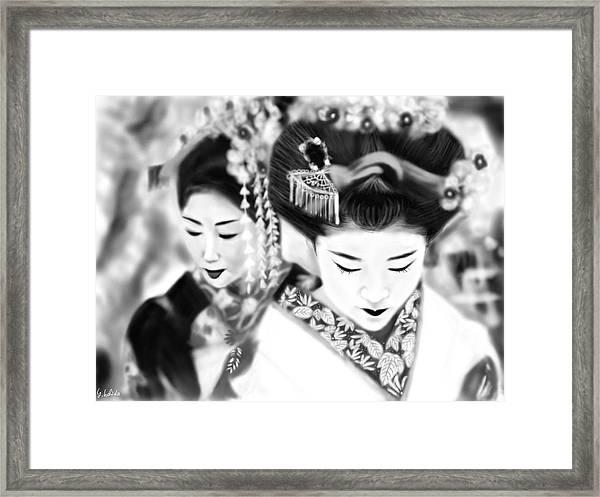 Geisha No.160 Framed Print by Yoshiyuki Uchida