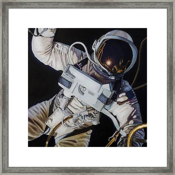 Gemini Iv- Ed White Framed Print