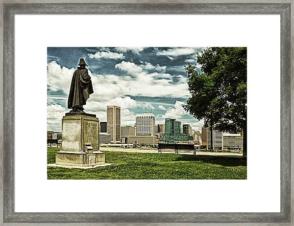 General Smith Overlooks Baltimore Harbor Framed Print