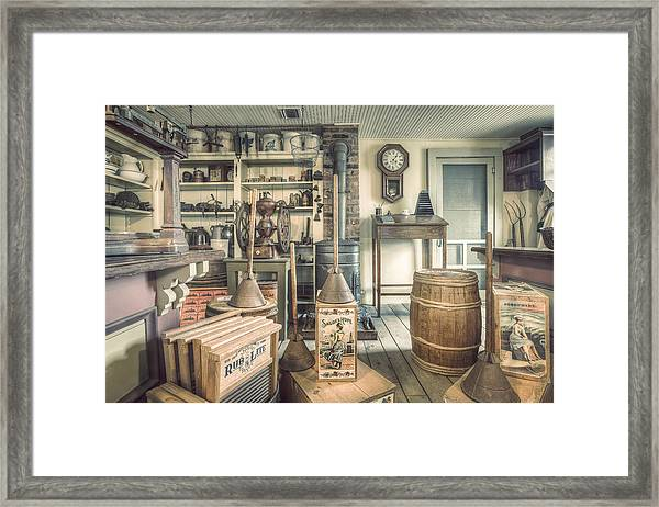 General Store - 19th Century Seaport Village Framed Print