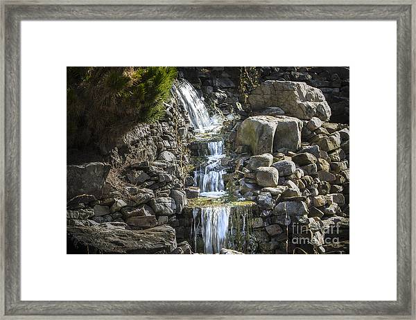 Gentle Waterfall Framed Print
