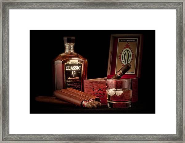 Gentlemen's Club Still Life Framed Print