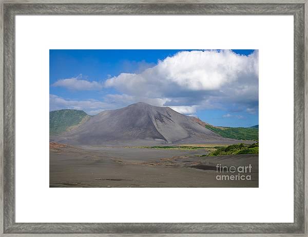 Gently Smoking Volcano Framed Print