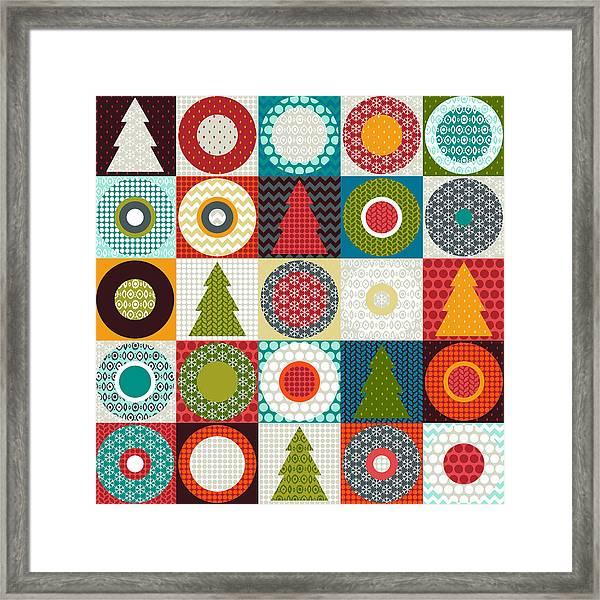 Geo Christmas Framed Print