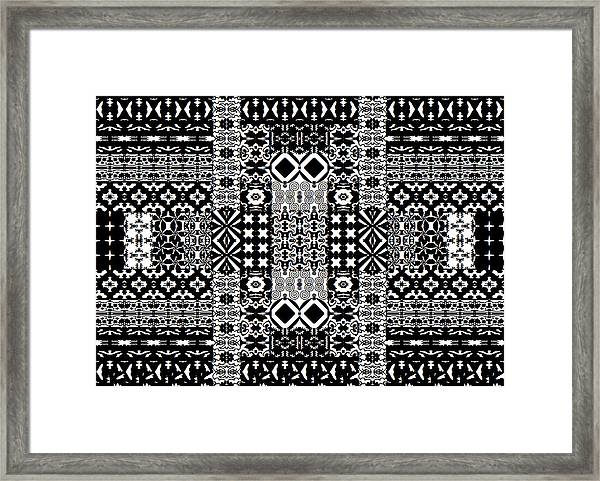 Geometric Abstract In Mono Framed Print