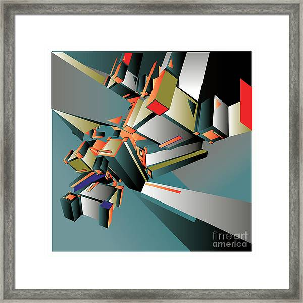 Geometric Colorful Design Abstract Framed Print