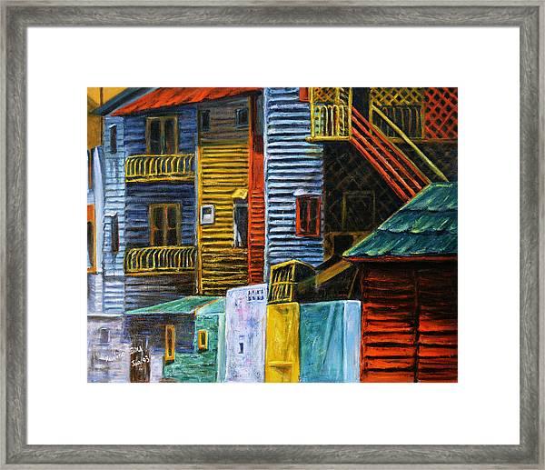 Geometric Colours I Framed Print