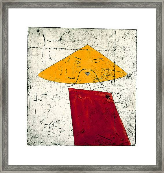 Geometric Figure With Face Framed Print by Tim Southall