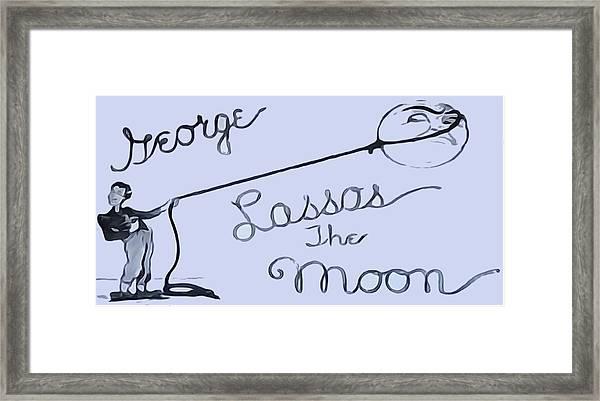 George Lassos The Moon Framed Print