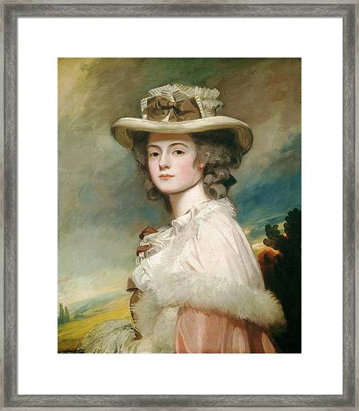 George Romney, Mrs Framed Print by Quint Lox