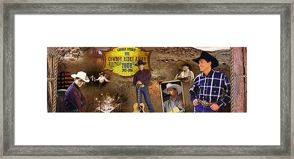 George Strait Cowboy Rides Away Framed Print by Retro Images