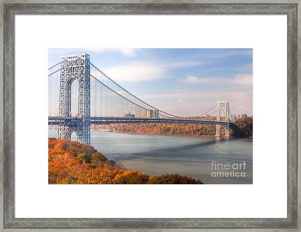 George Washington Bridge Framed Print