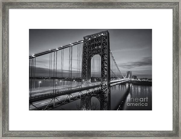 George Washington Bridge Morning Twilight II Framed Print
