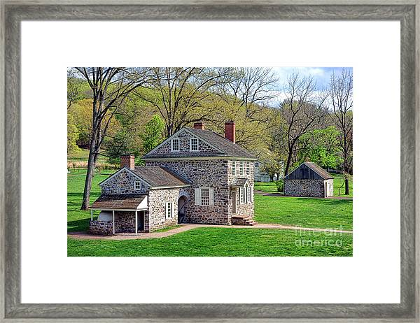 George Washington Headquarters At Valley Forge Framed Print