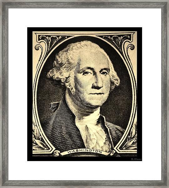 George Washington In Sepia Framed Print