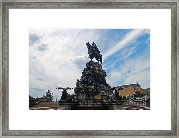 George Washington Statue Framed Print