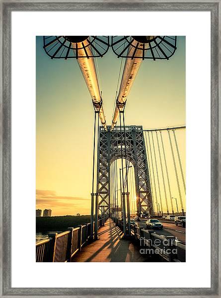 George Washington Sunset Framed Print