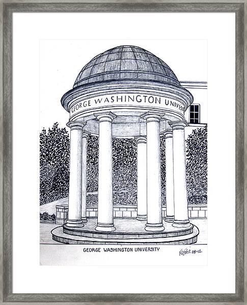 George Washington University Framed Print