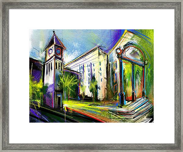 Local Landmarks Framed Print