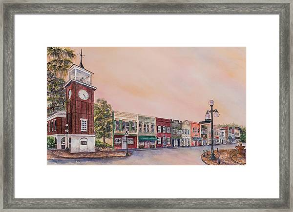 Georgetown Front Street Framed Print