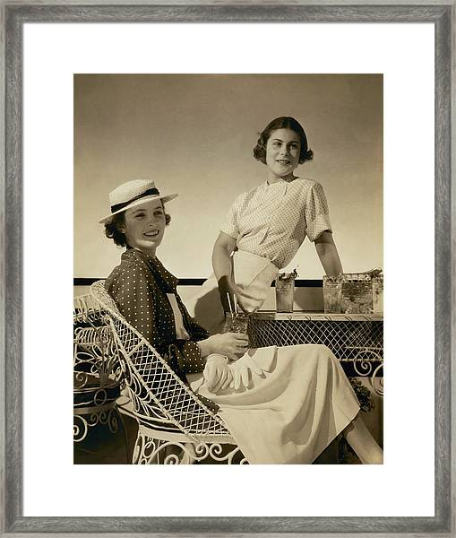 Georgette Whelan And Mimi Richardson Framed Print