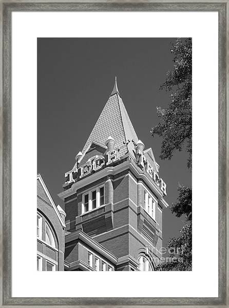 Georgia Institute Of Technology Evans Administration Building Framed Print