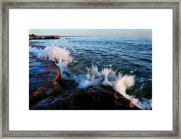 Georgian Bay Shore Surf Framed Print