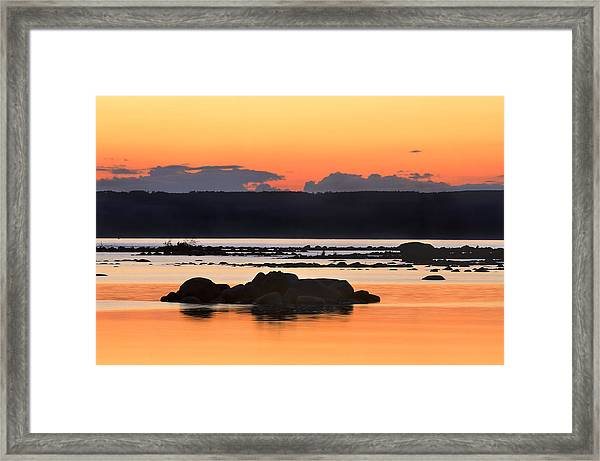 Georgian Bay Sunset-1 Framed Print