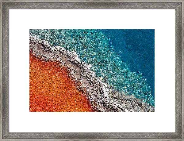Geothermic Layers Framed Print