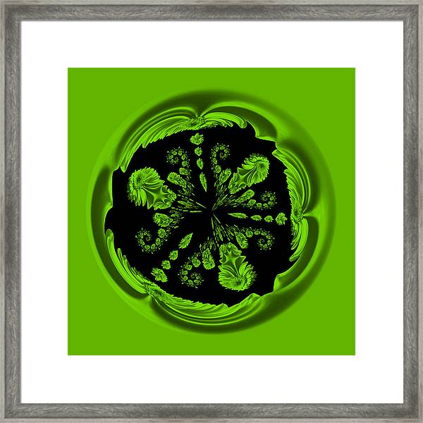 Gerbia Daisy Digitized Orb Framed Print