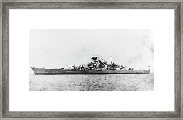 German Battleship Bismarck Framed Print by Us Navy/science Photo Library