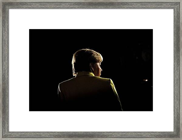 German Christian Democrats (cdu) Hold Annual Party Congress Framed Print by Carsten Koall