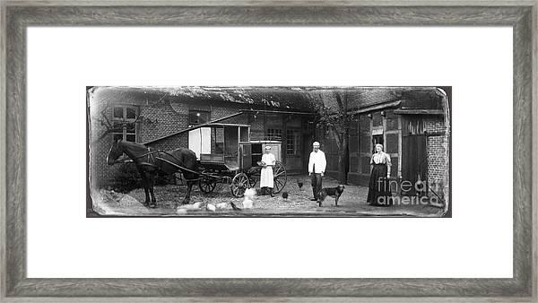 German Farm 1850's Framed Print