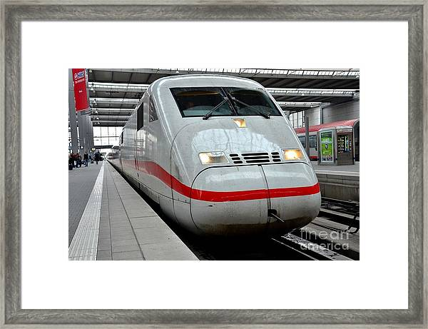 German Ice Intercity Bullet Train Munich Germany Framed Print