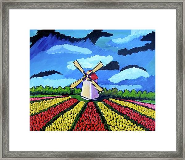 German Tulip Field Framed Print