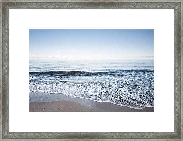 Germany, Mecklenburg-western Pomerania, Usedom, Waves On The Beach Framed Print by Westend61