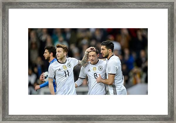 Germany V Italy - International Friendly Framed Print by Boris Streubel