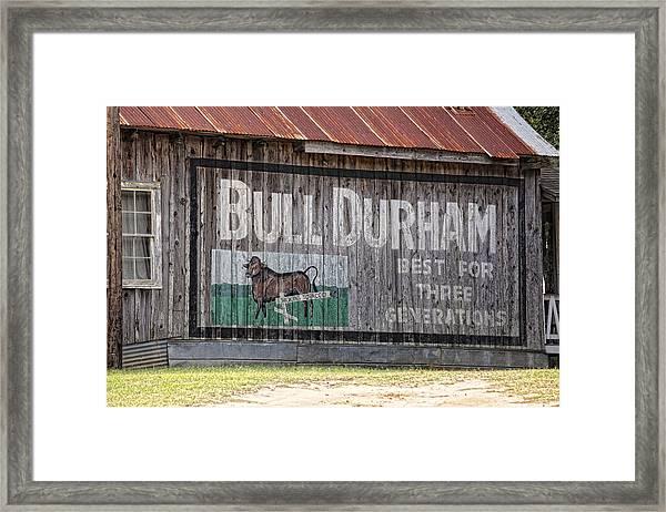 Get The Bull Framed Print