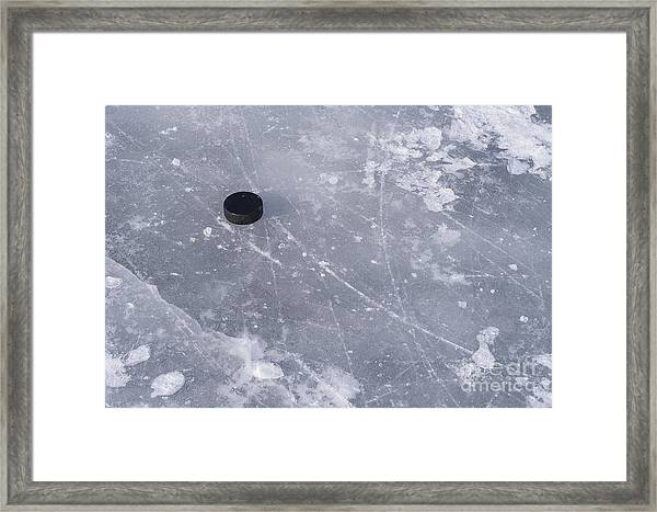 Get The Puck Outta Here Framed Print