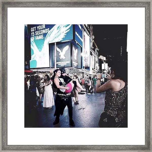Get Your 15 Seconds Of fame Framed Print