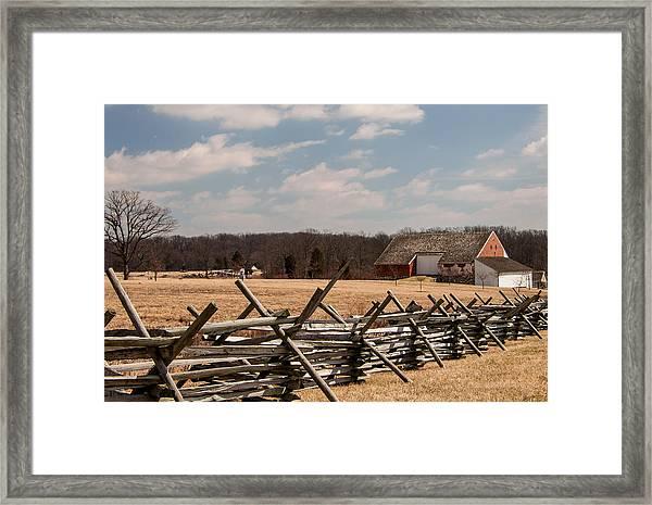 Gettysburg Battlefield Framed Print